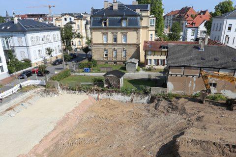Baubeginn in der Schützenstrasse 19 in Bamberg